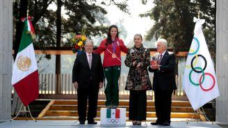 Luz Acosta, tras recibir la medalla de bronce de los JO, Londres 2012
