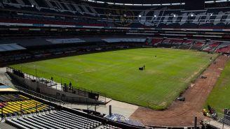 La cancha del Estadio Azteca y el calvario del pasto híbrido