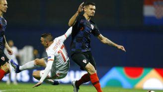 Lovren, durante el encuentro entre Croacia y España de Nations League