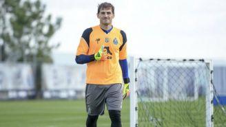 Iker Casillas, en un entrenamiento con el Porto
