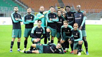 Portugal, durante el entrenamiento de cara al duelo vs Italia