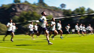 Jugadores de los Pumas durante un entrenamiento