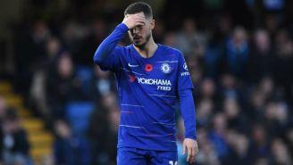 Hazard se lamenta tras partido de Chelsea