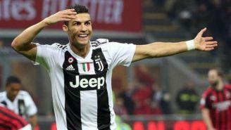 Cristiano festeja gol vs Milan