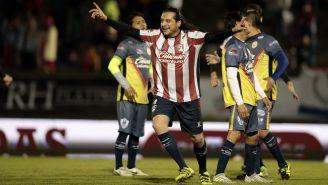 Héctor Reynoso celebra anotación contra América