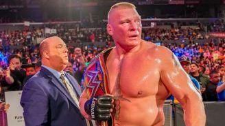 Brock Lesnar después de ganarle a Daniel Bryan