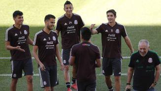 La Selección Mexicana durante un entrenamiento en Mendoza