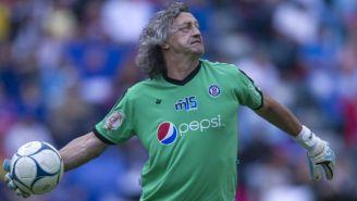 Norberto Scoponi, durante el juego de leyendas frente al América