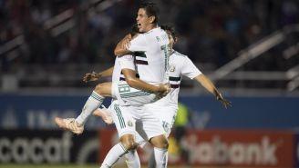 Selección Mexicana Sub20 celebra un gol ante Panamá