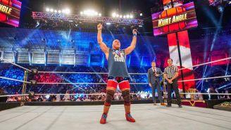 Kurt Angle antes de una lucha con la WWE