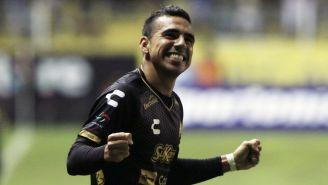 Jesus Escoboza en festejo de gol contra Juárez