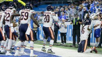 Jugadores de los Bears realizan baile en forma de festejo
