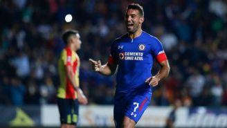 Martín Cauteruccio festeja su gol contra Morelia