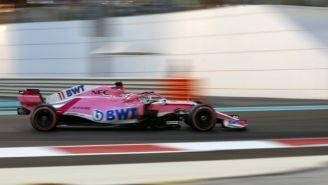 Pérez, durante la calificación para el GP de Abu Dhabi