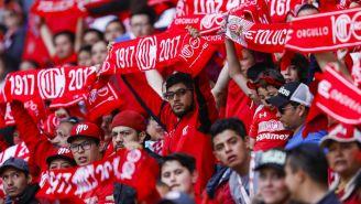 Aficion del Toluca, durante el partido de la jornada 14 de la Liga MX