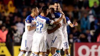 El festejo de uno de los goles de Cruz Azul