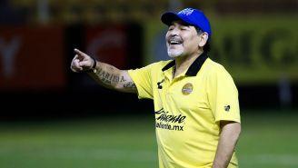 Diego Armando Maradona durante un entrenamiento