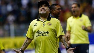 Diego Armando Maradona en lamento tras expulsión