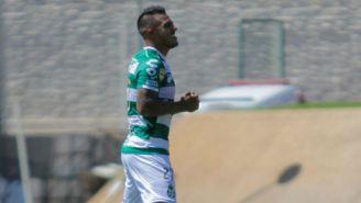 Javier Cortés, en un juego con Santos en el A2018