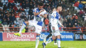 Guzman en festejo de gol