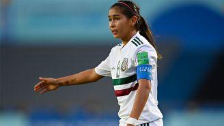 Nicole Pérez, durante un juego con el Tri en el Mundial Sub 17