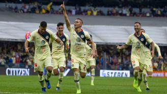 América festeja gol de Paul Aguilar vs Toluca