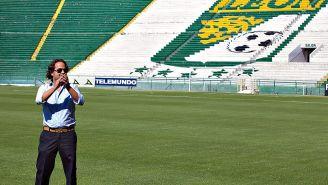 Jesús Martínez Murguía en el Estadio León