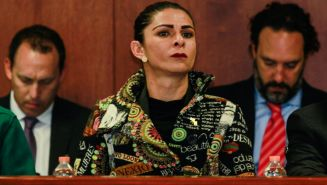 Ana Gabriela Guevara, durante la asamblea del Comité Olímpico Mexicano
