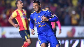 Junihno celebra una anotación con Tigres en Liga MX