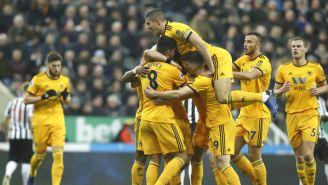 Wolverhampton celebra la victoria frente al Newcastle