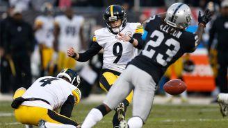 Steelers falla la patada que les daba el empate ante los Raiders