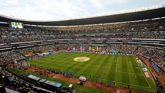 Panorámica del Estadio Azteca previo a un partido
