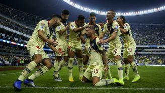 América festeja goleada (6-1) contra Pumas