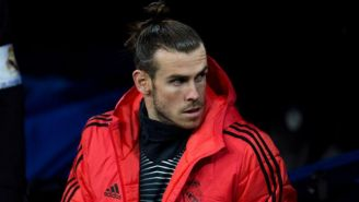 Bale, en el banquillo durante el partido vs CSKA