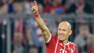 Arjen Robben celebra gol con Bayern