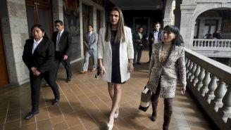 Ana Guevara en su toma de protesta como directora de Conade