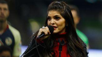 Ana Bárbara interpreta el Himno Nacional en la Final del A2018