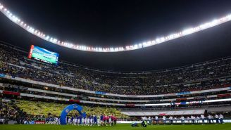 Una panorámica de la entrada en el Estadio Azteca