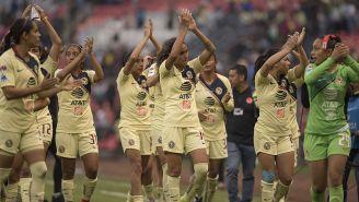 Jugadoras del América agradecen a la afición en el Azteca