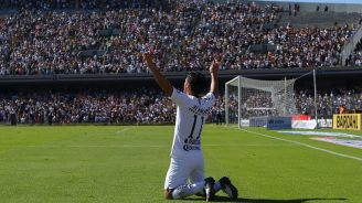 Alustiza celebra un gol en CU