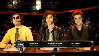 Rulo Mercury, junto a sus compañeros de casteo durante la Final del Circuito Nacional argentino de League of Legends