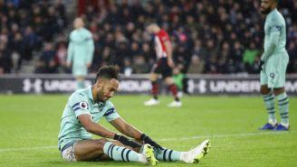 Pierre-Emerick Aubameyang, triste tras la derrota frente al Southampton