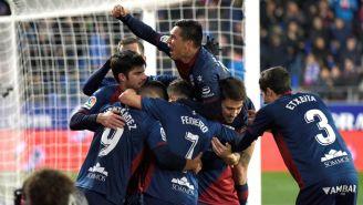 Huesca, celebra empate frente al Villarreal