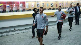 Jugadores del América ingresan al Estadio Azteca