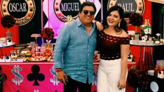 Mishelle Herrera y su padre Miguel Herrera