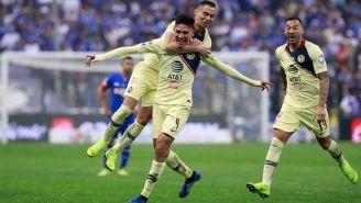 América festeja gol de Edson Álvarez