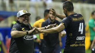 Maradona festeja gol de Dorados