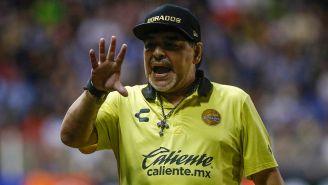 Diego Armando Maradona en un partido de Dorados