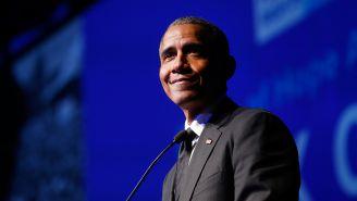 Barack Oabbama en un evento