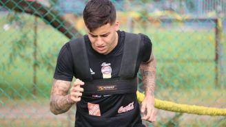 Beto Da Silva durante un entrenamiento con Tigres